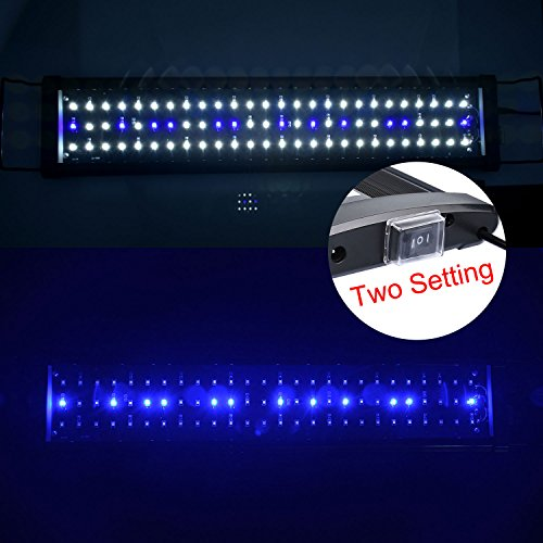 aquarien eco led aquarium beleuchtung aufsetzleuchte blau wei aquariumleuchte lampe 60cm 15w. Black Bedroom Furniture Sets. Home Design Ideas