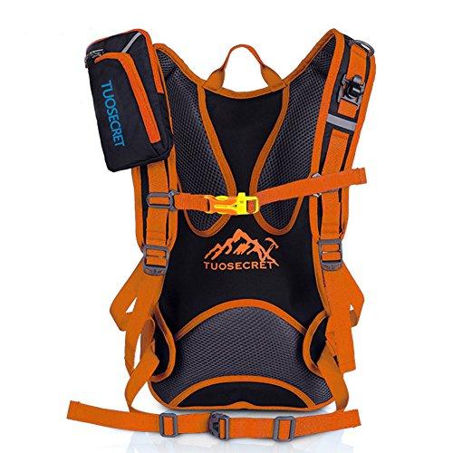 Fahrradrucksäcke, 18L Leichter Fahrrad Rücksack mit Regenschutzkappe orange 2