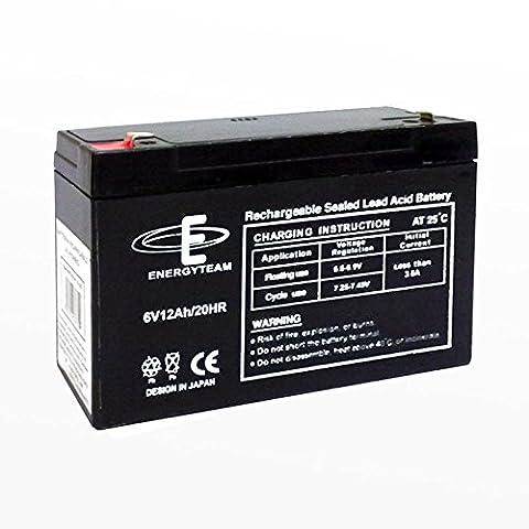 Batterie au ploMB étanche 12Ah EnergyTeam 6 V