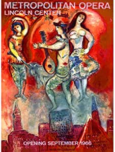 1966 Metropolitan Opera By Artist Marc Chagall 14 X20 Planked Wood Sign Wall Decor Art Amazon Co Uk Welcome