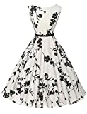 GRACE KARIN® Gonna Anni 1950 Donne Vestiti Estivi Vintage Cocktail Vestito Cotone XS~Taglie Forti 4X - Yafex - amazon.it