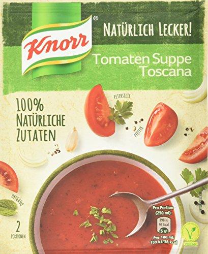 Knorr Natürlich Lecker! Tomaten Suppe Toscana Beutel, 58 g (Tomaten-suppe)