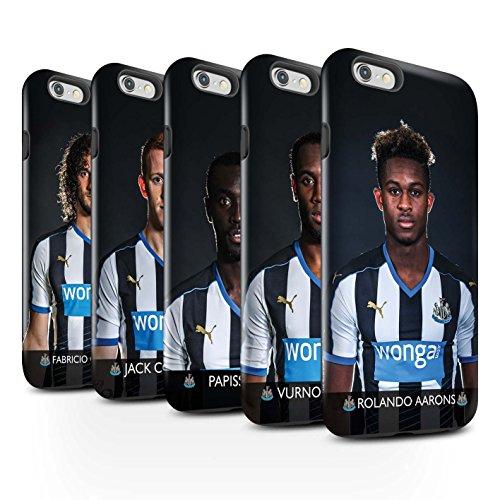 Offiziell Newcastle United FC Hülle / Glanz Harten Stoßfest Case für Apple iPhone 6S / Pack 25pcs Muster / NUFC Fussballspieler 15/16 Kollektion Pack 25pcs