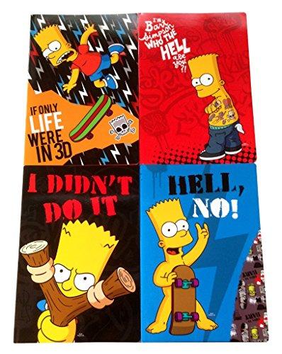Quaderno Maxi A4 The Simpsons 100Gr Righe 1A 2A Elementare A 1Pz