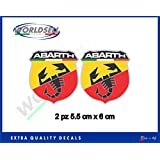 Pegatinas de 2 piezas logo escorpión Abarth Italia Fiat Punto 500 WRC 1
