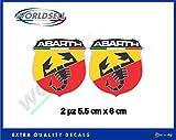 Aufkleber Aufkleber 2 Stück Abarth Skorpion-Logo Italien Fiat Punto 500 WRC 1