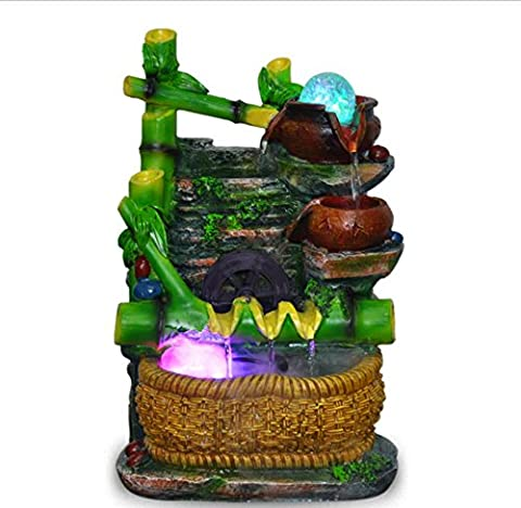 U-Indoor Fountains Home creative indoor ornaments water fountains bamboo crafts ornaments resin