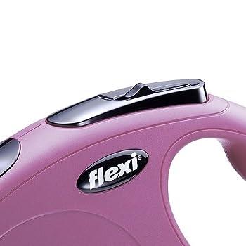 Flexi New Classic Laisse en Cordon pour Chat Rose 3 m 8 kg Taille XS