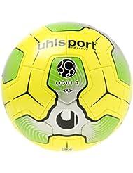 Uhlsport Liga 2balón de Match, color amarillo/plata/verde, talla 5