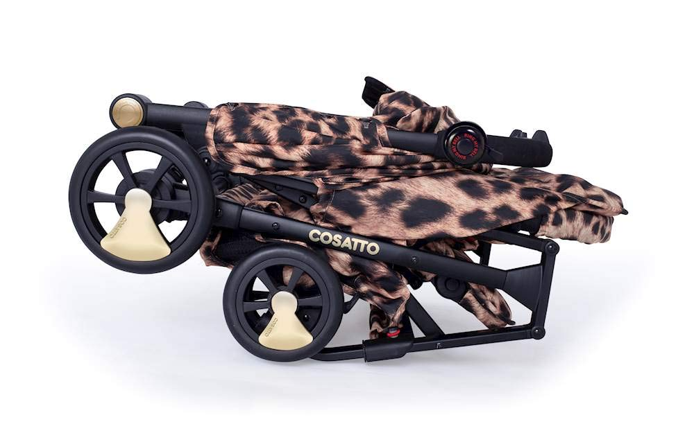 Cosatto Woosh Hear Us Roar Pushchair Cosatto Compact from-birth pushchair, carries up to 25kg child, so you can use it for longer Folds one-handed into small compact bundle, easy store and ultra lightweight for city life Luxury fabrics, rain cover, upf100+ double length hood and visor 5