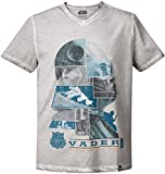 GOZOO Star Wars T-Shirt Herren The Dark Side of The Force Oil Dye 100% Baumwolle Grau