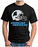 OM3® - Carolina Football - T-Shirt | Herren | American Football Shirt | 4XL, Schwarz