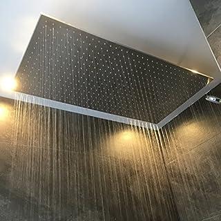 Bad Royal Wasserfall Dusche / Regen Dusche 100x100cm (gebürsteter Edelstahl)