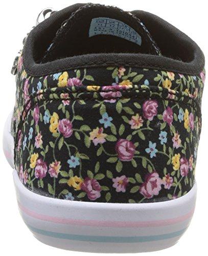 Le Coq Sportif Grandville Cvo Flowers Ps, Mädchen High-Top Sneaker Schwarz (Black)