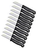 Schwertkrone Küchenmesser 10er Messer Set Solingen Obstmesser/Gemüsemesser Küchenmesser Schälmesser aus Bandstahl - Germany rostfrei 16 cm Gesamtlänge - 6 cm Klinge