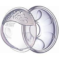Philips Avent SCF157/02 -  2 Conchas protectoras ventiladas para pezones, 2 conchas para recoger el exceso de leche y 2 cojines de silicona ultra suaves