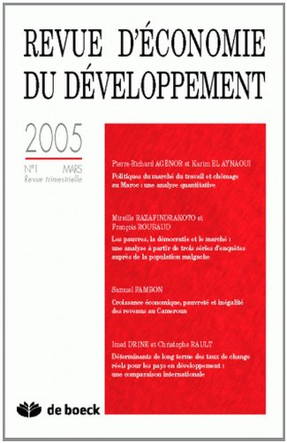 Revue d'Economie du Developpement 2005/1 (Econ.Developt)