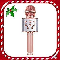 TICE Microphone sans Fil pour Filles karaoké, 8-12 Ans Fille Jouet Cadeau 6-10 Ans Fille Enfant Chantant Microphone 5-11 Ans Enfant Cadeau de Noël 4-12 Ans Fille Fille Cadeau d'anniversaire Fille