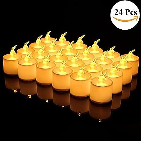 【24 Pièces 】Lot de 24 Pièces LED Bougies Electronique avec