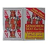 2x 32 Blatt SENIOREN SKAT-KARTEN Spiel Karten Skatkarten französisches Blatt
