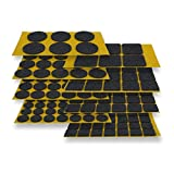 Sortiment Filzgleiter selbstklebend 131-teilig, schwarz