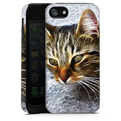 Apple iPhone X Silikon Hülle Case Schutzhülle Katze Cat Kätzchen Tough Case matt