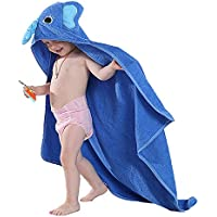 Toalla con capucha para bebés, Chickwin Manta de algodón Toallita de lujo Cómodas y largas