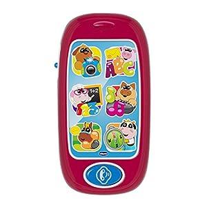 Chicco- Big & Small Teléfono bilingüe, Color Blanco (00007853000040)