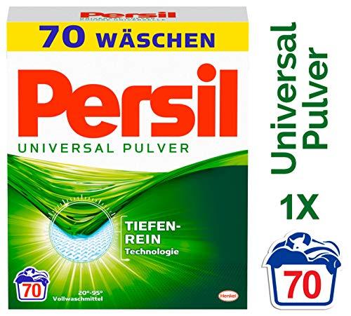 Persil Universal Pulver, Vollwaschmittel mit Tiefenrein-Technologie 1er Pack (1 x  70 Waschladungen)