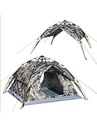 3-4-persona al aire libre doble uso autom¨¢tico tienda de camuflaje de viento y lluvia tienda de campa?a anti-ULTRAVIOLETA