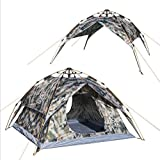 Outdoor 3-4-Person Dual-Use Automatic Camouflage Zelt Wind und Regen Anti-UV Camping Zelt