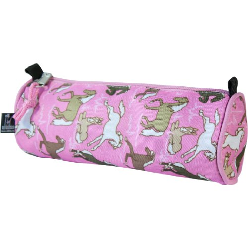 wildkin-childrens-pink-horses-pencil-case-multi-colour