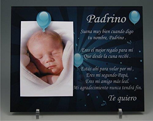 (ref.KdES-BPr) Marco de fotos para Padrino - Regalo para bautizos, Navidad, cumpleaños...