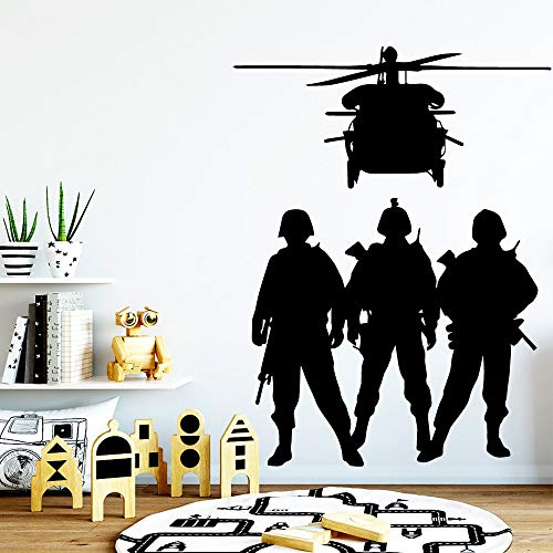 Adesivo da muro Soldier Decorazione per la casa Stikers For Living Stanze per bambini Wallpaper Decalcomanie in vinile Adesivo De Parede-78x60cm