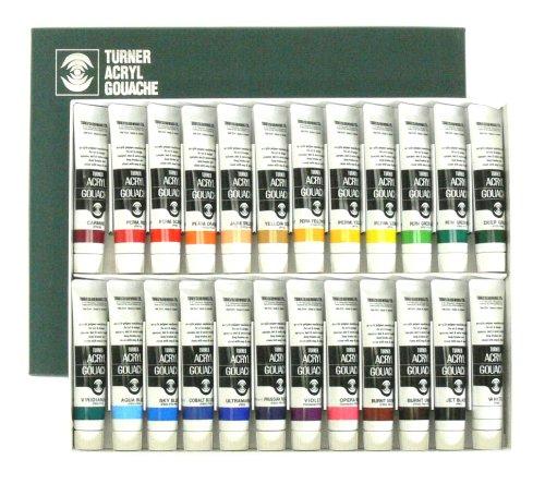 Turner Acrylic Gouache 20ml 24 color set (japan import) Turner-set