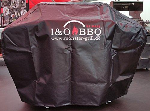 I&OBBQ XL Abdeckhaube LKW Planenqualität für Grills bis 151cm Breite mit Logo Lkw-monster-logo