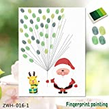 Wandaufkleber 3D Wandaufkleberwandbild Tapete Diy Abnehmbare Umwelt Kunst \ Fingerabdruck \ Amazon Explosion Kreative Weihnachten Alter Mann Finger Kreative Fingerabdruck Dekoration Malerei, A