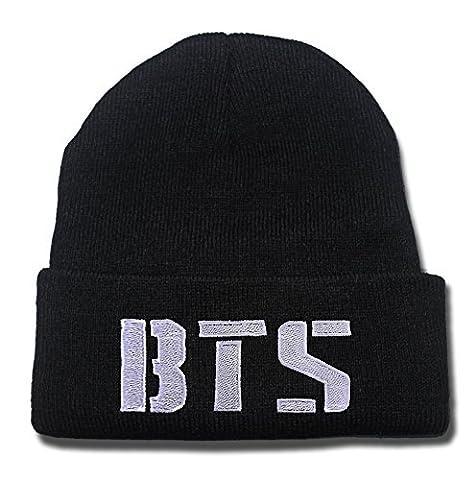 SIANDA BTS Bangtan Boys Logo Beanie Embroidery Knitted Hats Skull Caps