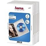 Hama DVD-Hüllen 5er-Pack (auch passend für CDs und Blu-rays) mit Folie zum Einstecken des Covers, weiß