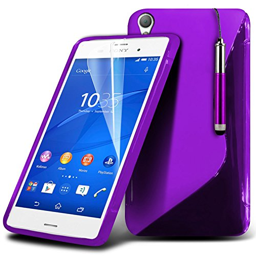 (Rose) Sony Xperia Z3+ Haute Qualité Durable dur Shock Survivor dur Rugged Proof étui cas Heavy Duty avec stand Retour Skin étui cas Cover & Screen Protector Par i-Tronixs Wave Gel+ Stylus ( Dark Purple )