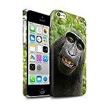 Stuff4 Clipser Matte Coque de Coque pour Apple iPhone 5C / Selfie Babouin Design/Animal Drôle Meme Collection