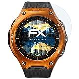 atFoliX Panzerfolie für Casio WSD-F10 Folie - 3 x FX-Shock-Clear stoßabsorbierende ultraklare Displayschutzfolie