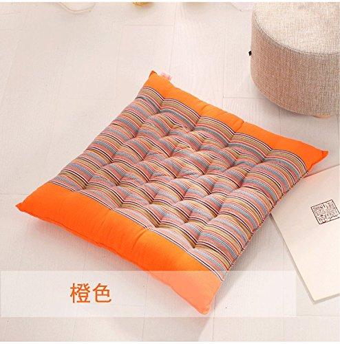 Baozengry Une Chaise De Bureau Assise De Siège Coussin De Siège De Voiture,45X45Cm,Coussin Orange