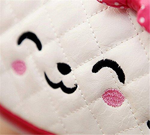 Scheppend bambine carino principessa fiocco di nastro tallone Messenger spalla borsa borsetta borsa (rosa) Rosso