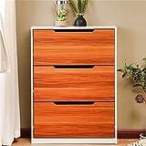 GuoEY Shoe Cabinet/Shoe Rack Schuhschrank, Einfache und Moderne 3 Tür Schuhschränke Schlank Home Storage Schuhregal (Farbe : As Shown)