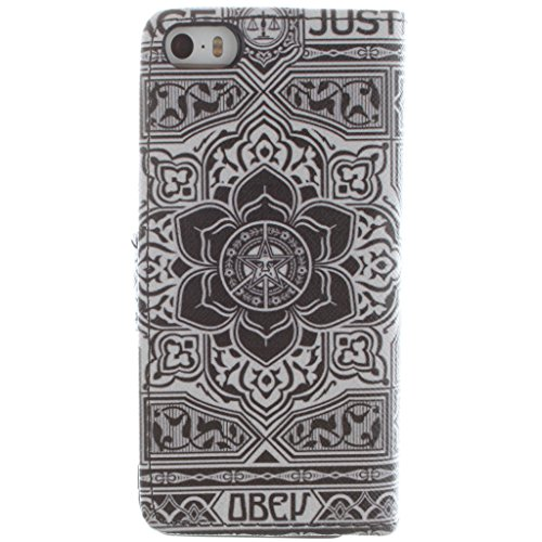 Nutbro [iPhone 5S] iPhone 5S Flip Case,iPhone 5 Case,iPhone 5S Case,iPhone 5 Cover,iPhone 5 Leather Case,iPhone 5 Wallet Case For iPhone 5/5S ZZ-5S-26