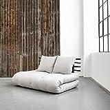Structure tête de lit futon shin sano en pin noir - Terre de Nuit