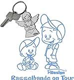 Babyaufkleber, Geschwisteraufkleber für Auto mit Wunschtext (GS-15)