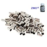 Zimo 50pcs Brake Cable Housing Ferrule End Caps for Bike Cycle or Bicycle Metal 5mm