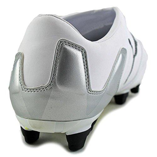 Puma V-KON II L I FG Cuir Baskets White-Black-Fluo Yellow